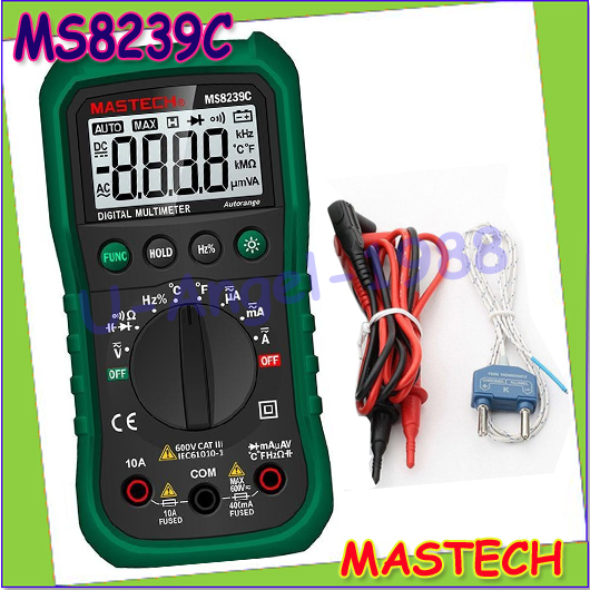 Wholesale 1pcs Mastech MS8239C Handheld Auto range Digital Multimeter Temperature Capacitance Frequency Tester Dropshipping<br><br>Aliexpress