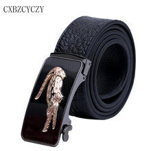 2017 Automatic Buckle Genuine Leather Crocodile Business Mens Belts Luxury Designer Brand Belts For Men High Quality boss belts