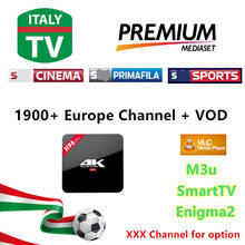 [H96 pro]3/6/12 Months 2000 Live TV IPTV M3U ENIGAM2 Androd IPTV ITALY German French Spain UK S KY IT MEDIASET PREMIUM PRIMAFILA