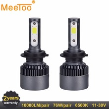 H7 LED H4 H1 H11 HB4 12V LED Light Car Lights HB3 9005 9006 H3 9004 9012 9007 Auto Lamps for Cars 6500k LED Bulb for DIY(China)