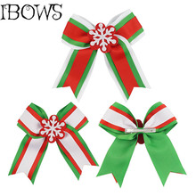 1PC Three Layers Cheerleading Cheer Bows With snowflake Hair Accessories Hair Bow Hairclips For Girls Kids Christmas Gift