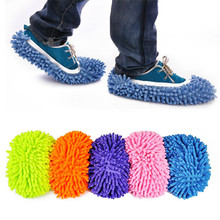 Dust Cleaning home Slippers Mop Wipe Shoes Slippers sets Wigs Multifunction Floor House floor MOP wringer rag for mops