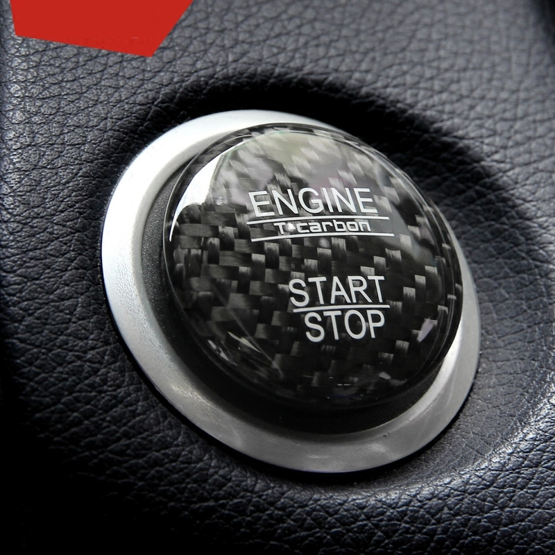 Carbon-Fiber-Car-Engine-Start-Stop-Button-Cover-Keyless-Go-Ignition-Stickers-for-Mercedes-Benz-A