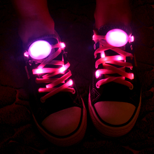 10 Pairs Nylon Shoelaces Dancing LED Shoelace Night Jogging Running Light Up Laces for Plimsolls Casual Sport Shoes(China)