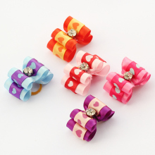 Armi store Handmade Accessories For Pets Mini Style Ribbon Bow 21029 Yorkshire Head Flower  Wholesale