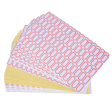 60sheets/4800pcs Blank Adhesive Price Sticker White Self  Labels Tags Inventory Labels Journal Notes