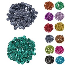 LNRRABC 1000Pcs/12g Shiny Acrylic Spacer Loose Flat Beads for Jewelry Making Findings Wedding Party Free Shipping(China)