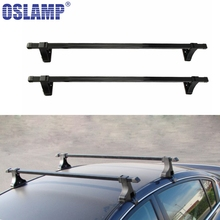 Oslamp Universal Roof Rack Cross Bar 35KG 75LBS For 4-Door Car Truck SUV Models Travel Luggage Carrier Baggage Rack Holder Rail(China)