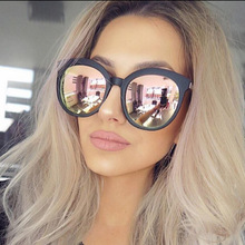 Men Luxury Brand Sunglasses Round Couple Pink Sunglasses Women 2016 Driving Sun Glasses Female Lunette Femme Sunglases Rose Gold