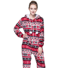 Women Christmas Pajamas Onesie Red Pink Pijamas Selling Best In Chinese Market Online For Teenagers Lady Adults(China)