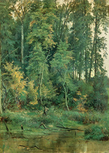 free shipping Russian painter Shishkin green forest landscape oil painting canvas painting on canvas wall art decoration picture(China)