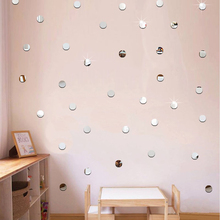 Bling-Bling Dots Rounds Acrylic Mirror Surface Wall Sticker 3D Mirror DIY Wall Decals Children's Room Ceiling Home Decor