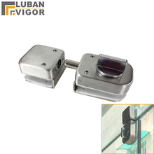 Stainless steel,Glass Door Latches Lock/bolt,138A ,Without drilling,for Double/single glass door, Frameless glass door