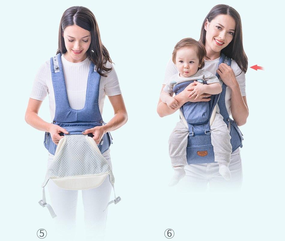SUNVENO حقيبة وحمالة اطفال 8