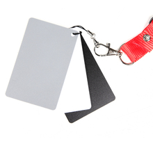 18% Grey Cards White Balance Card Set for Digital Photography with Neck Strap Color Correction Tool(China)