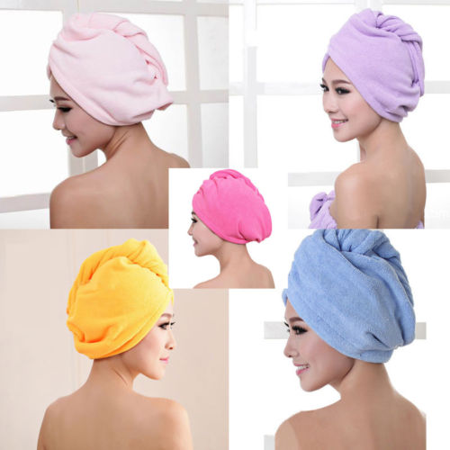 HIRIGIN Microfibre Hair Drying Towel Wrap Turban Head Hats Bun Cap Shower Dry Wet Hair Beanies(China)