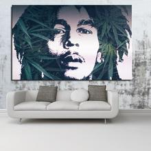 bob love music face Figure Painting Abstract Spray Frameless drawing Home decor Canvas Oil Painting digital airbrush straw(China)