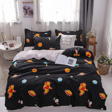 Outer Space bedding sets Simple Style duvet cover flat sheet Queen size 4pc Duvet cover sets Twin Full size Dropshiping(China)