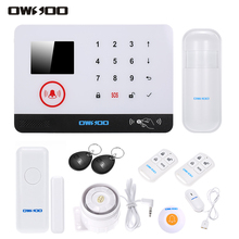 OWSOO 433MHz Wireless WIFI Alarm Security System Water Door Sensor LCD Display Wired Siren Home Burglar Security Alarm System(China)