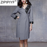 2018-New-Runway-Slim-Wrist-Sleeve-Autumn-Dress-For-Women-High-Waist-Robe-Irregular-Knee-Length.jpg_200x200