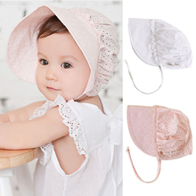 Hat Spring Autumn Kids Summer Hats Flower Prints Hollow Caps For Toddlers Baby Girls Soft Caps Hat Child Girl Summer(China)