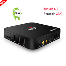 V88 Android 6.0 Tv Box Rockchip 3229 Quad Core RAM 1GB ROM 8GB WIFI HDMI 2.0 4K Smart Media Player Support 3D Miracast DLNA