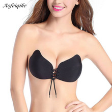 Fashion Angel Sexy Bra Seamless Strapless Bra Female Must Silicone Push Up Bra Wire Free Invisible Bra(China)