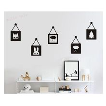 Creative Vinyl wall decals children's room cartoon cute little pendant stickers , Nordic style ins hot kids room wall decoration(China)