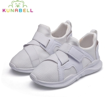 2017 Autumn Boys Mesh Sneakers Children Casual Breathable Sports Shoes Girls White Runing Flats Shoes Kids Trainers C518