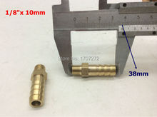 "free shipping copper fitting 10mm Hose Barb x 1/8"" inch male BSP Brass Barbed Fitting Coupler Connector Adapter"