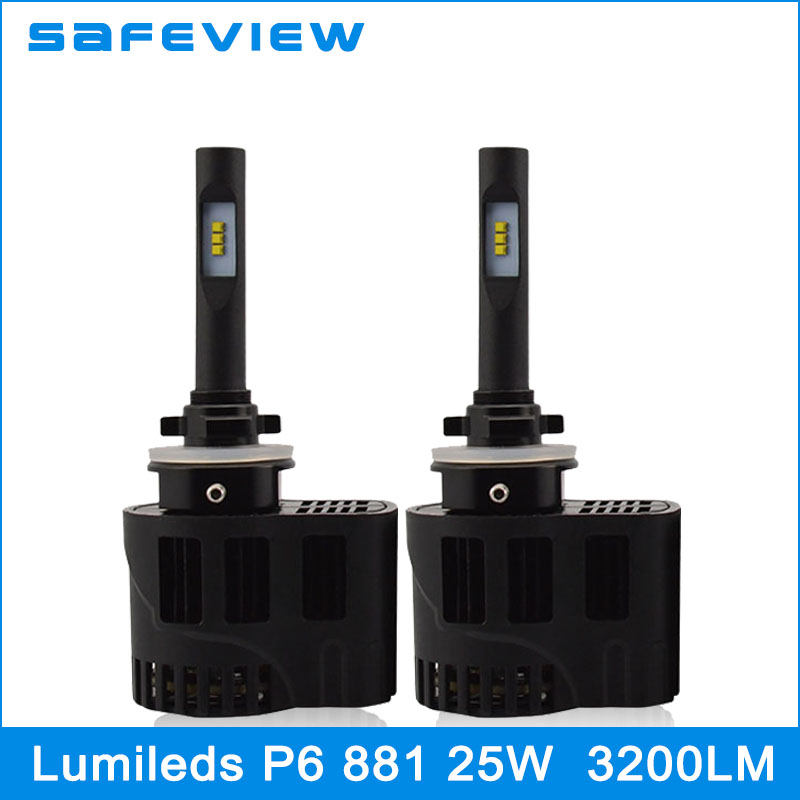 Safeview H27 led bulb 881 With Philips Chip Car Headlight Motorcycles Lighting Lamp 25W 3200Lm White Daytime Running Light<br>