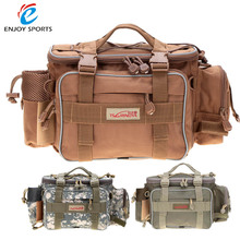 Trulinoya 40 * 15 * 19cm Fishing Bag Multi-function Fishing Tackle Bag Waterproof Canvas Waist Fishing Lure Bag Shoulder Bags