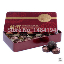 wholesale  Black Tea Fragrant rice Flavor Pu er, Puerh Tea, Chinese Mini Yunnan Puer Tea,Gift Tin box , Green Slimming teas