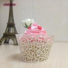 2017 New 50pcs flowerCake Cup Paper Wrap Cupcake Wrapper  wedding favors and gifts birthday party Wedding supplies decoration