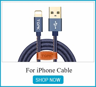TOPK LED Magnetic USB Cable For iPhone 7 6 6s Plus 5 5s SE iPad Air Fast Charging Reflective Nylon Braided Magnet Charger