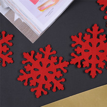 4pcs/lot Red Snow Cup Mats Christmas Indoor Desk Table Dinner Decorative Xmas Party Tea Coffee Pads Placemat