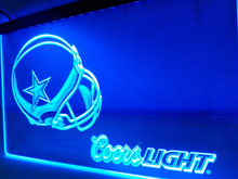LD458- Dallas Cowboys Helmet Coors LED Neon Light Sign(China)