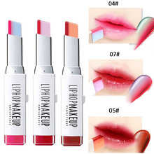 2017 New Fashion Hit Color Lipsticks Brand Cosmetics Waterproof Long Lasting Red Pink Double Color Korea Bite Lips Makeup Kit