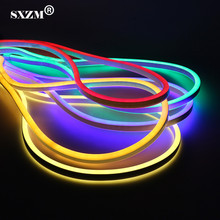 SXZM 5M 10M IP68 Waterproof AC220V 2835 Neon led strip light 120led/M Flexible Fairy lighting with EU plug,Outdoor decoration