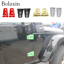 Bolaxin 2PCS/Set  Colorful ABS Engine Hood Door Hinge Cover Trims Fits For Jeep Wrangler 2007-2017  (Silver&Red&Green&Gold)