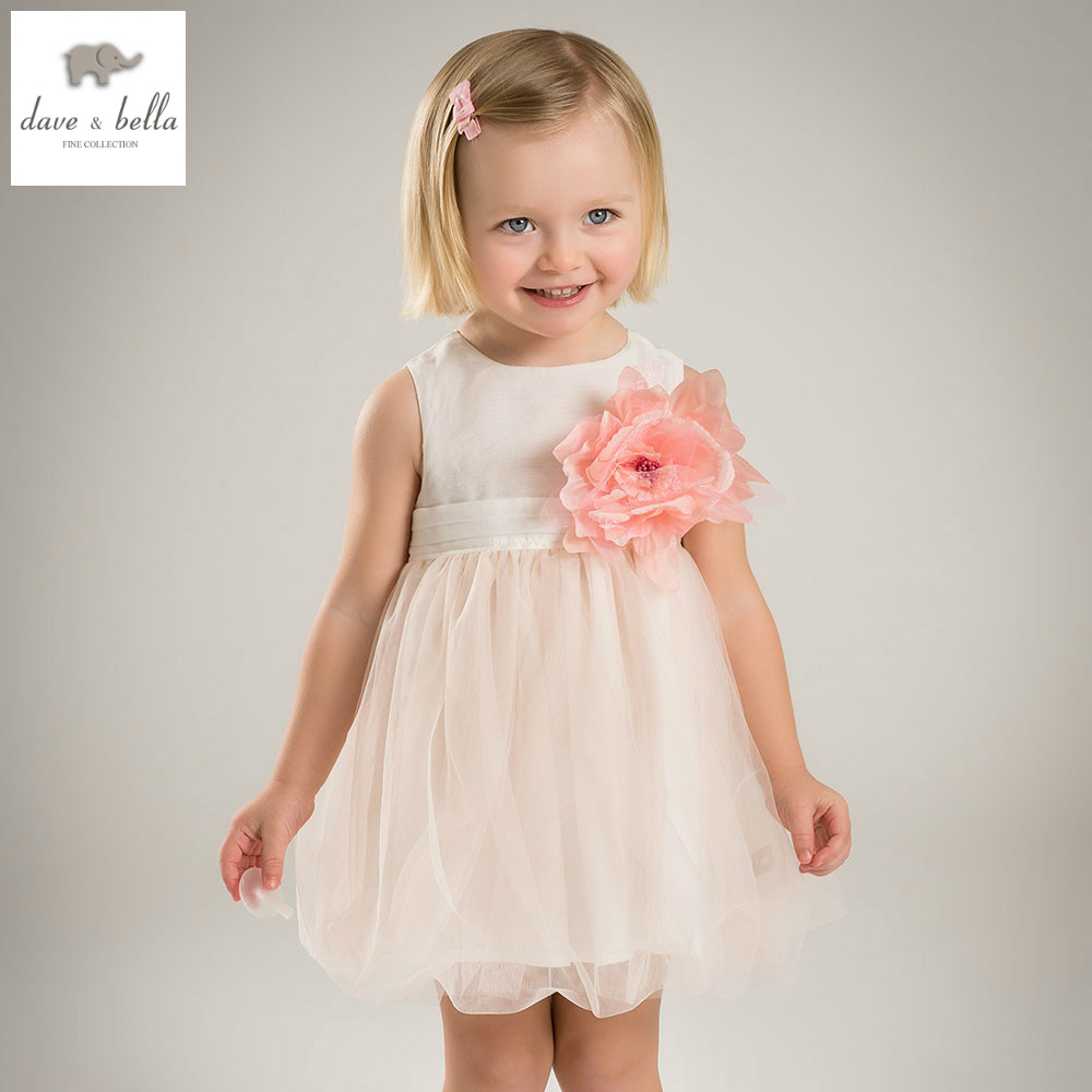 DB3554-N dave bella summer baby girl butterfly  appliques dress  birthday dress kids lolita clothes dress girls boutique dress<br>