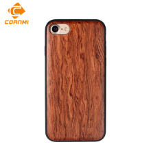 Bamboo Case For iPhone 7 Case Wooden Cover For iPhone 7 g RoseWood Walnut Wooden Shell + TPU Cases Back Cover CORNMI(China)