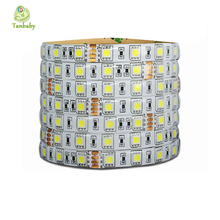 Tanbaby DC24V Waterproof strip Led 5050 5M/roll 60led/M flexible led ribbon outdoor decoartion Warm/White/RGB(China)