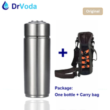 Portable Alkaline Water Ionizer Bottle 304 Stainless Steel with replaceable filter Nano Energy Flask Alkaline Water Bottle(China)
