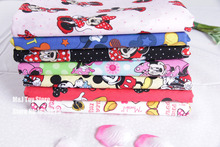 110*100cm Cartoon Mickey Mouse Minnie Mouse Child Cotton Fabric Baby Clothes/Diy Handmade Craft Bedding Home Cloth Purse Quilt(China)
