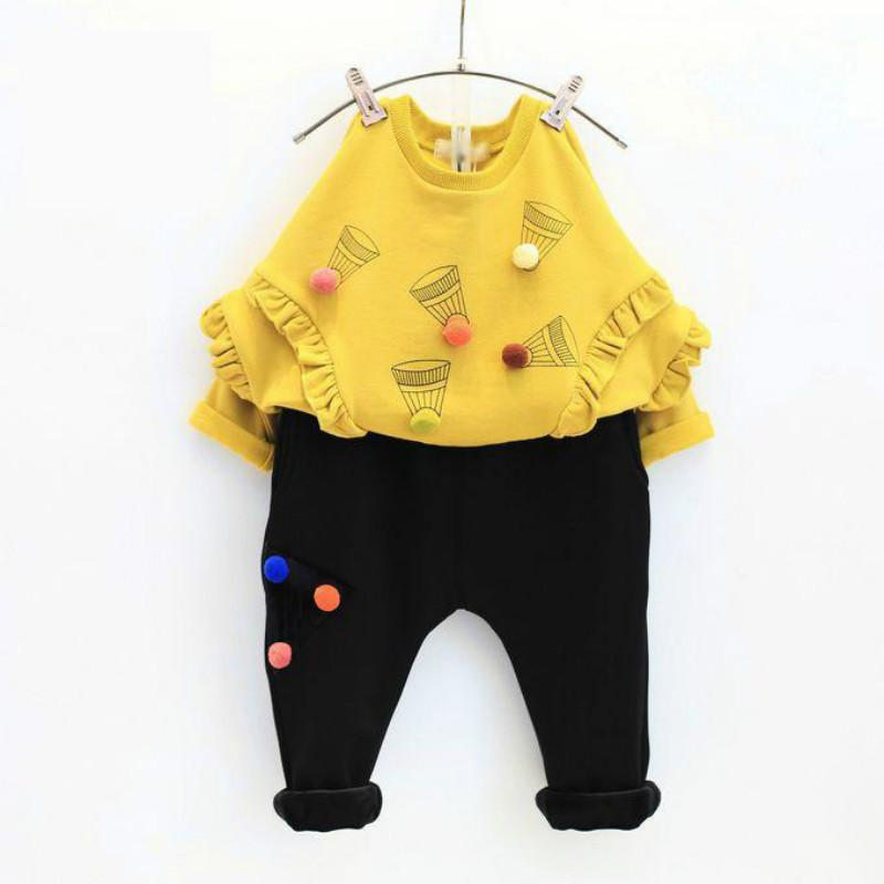 High Quality Fashion Girls Clothing Sets Red Lovely Cups Hoodies+Pants 2pcs Autumn Winter Baby Kids Clothes Set 2017 brand new<br><br>Aliexpress
