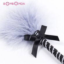 Buy Hot Sale  BDSM Feather Whip Sex Toy Spanking Bondage Flogger Erotic Fetish Flirting  Slave Adult Game Couple Anal Sex toys