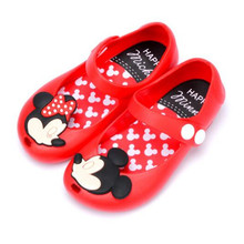 new 2017 High Quality Mini Melissa Girls Mickey Minnie Breathable Sandals Melissa anti skid Jelly Shoes Children Sandals 13-17cm