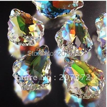 New Arrived!! 25 PCS/Lot 38MM K9 Optical Crystal Plated Rainbow Colors Prism Ornament Suncatcher Free Shipping!(China)