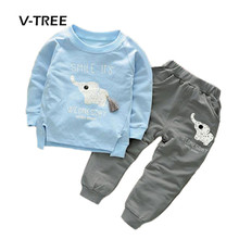 Buy V-TREE Baby Boys Girls Clothing Sets Fashion Cotton Suit Sets Boy Kids Children Baby Spring Autumn Clothes for $13.98 in AliExpress store
